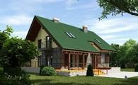 Просторный дом в английском стиле с зимним садом