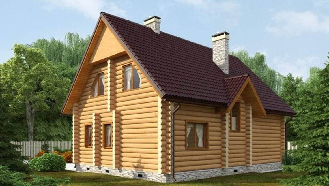 Проект дома из бруса - идеальный для дачи