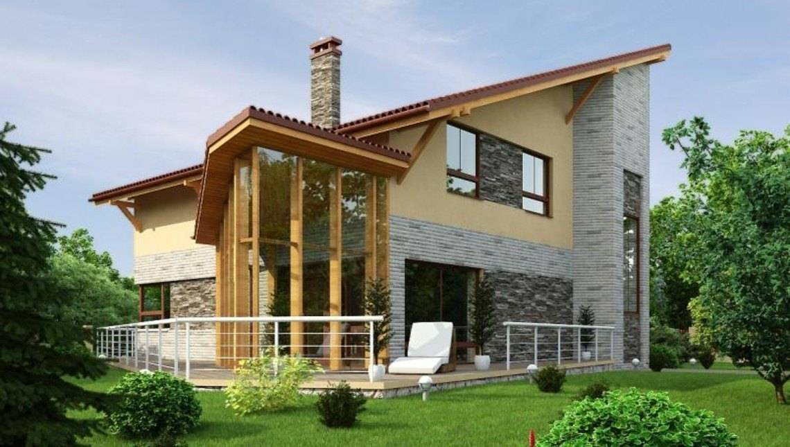 Оригинальный проект 2,5-этажного дома с бильярдной и зимним садом