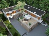Необычный современный дом с внутренним двориком и шикарной террасой