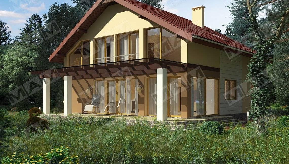 Практичный проект с двухскатной крыши
