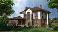 Проект двухэтажного дома с фактурным фасадом