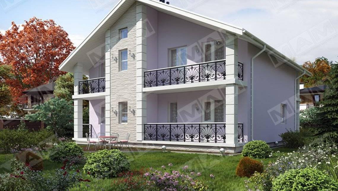 Проект светлого двухэтажного дома 12 на 12