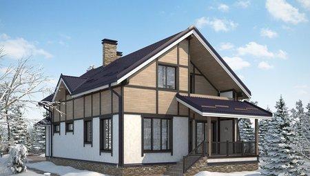 Дом с мансардой 10м на 17м