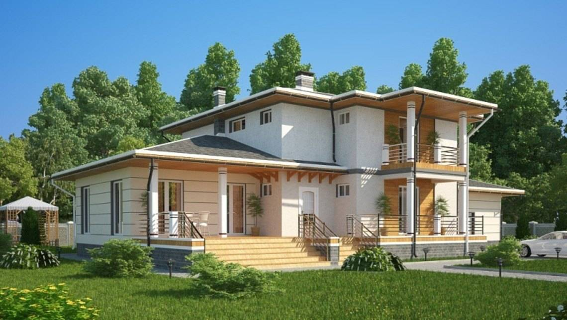 Красивый проект удобного современного дома 300 m²