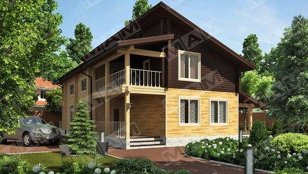 Красивый проект стильного современного особняка со вторым светом