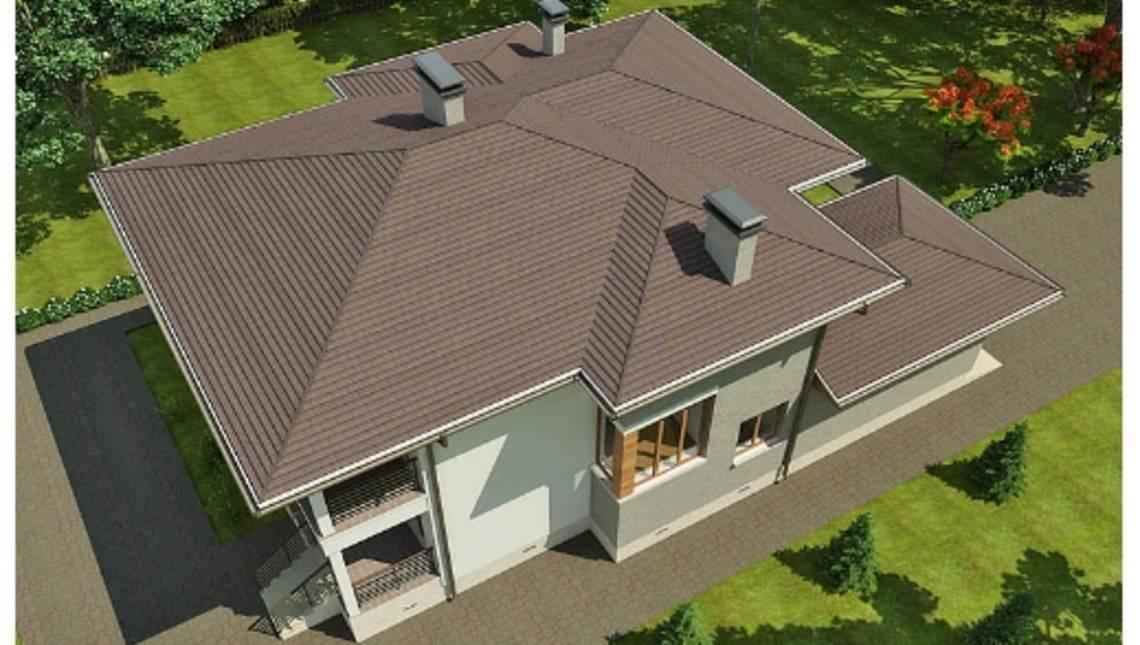 Красивый проект дома хай тек до 300 m² с террасой