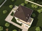 Красивый проект жилого дома с гаражом для 1 авто и удобной террасой