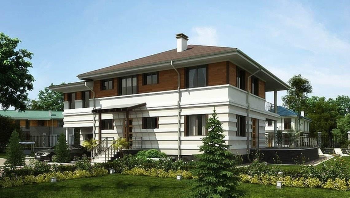 Красивый проект жилого дома с террасой и удобной планировкой
