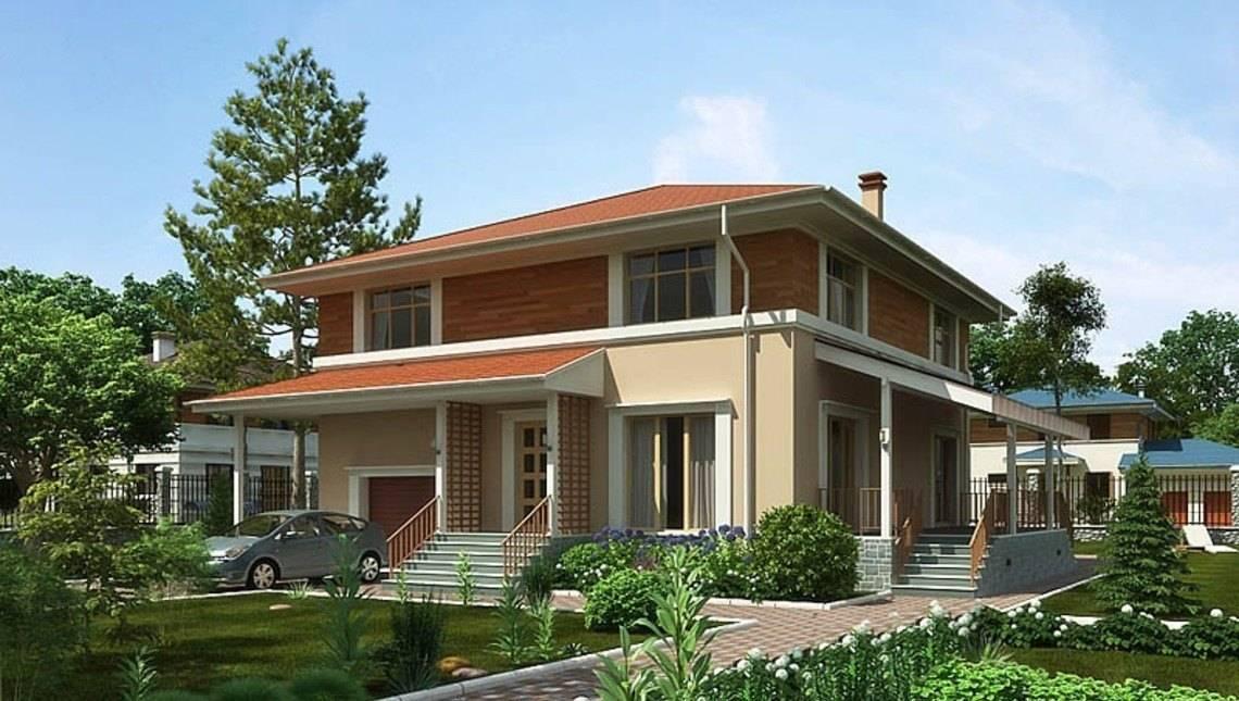 Красивый проект современного квадратного дома со всеми удобствами