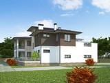 Красивый проект 2х этажного удобного дома с плоской крышей