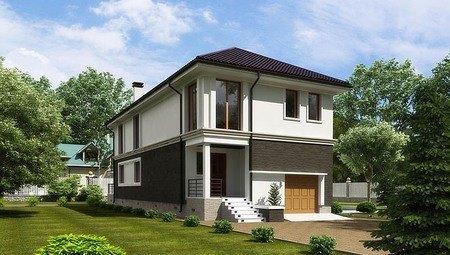 Красивый проект 2х этажного дома для узкого участка