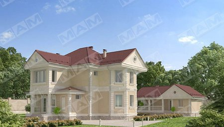 Красивый проект загородной виллы, площадью 220 m²