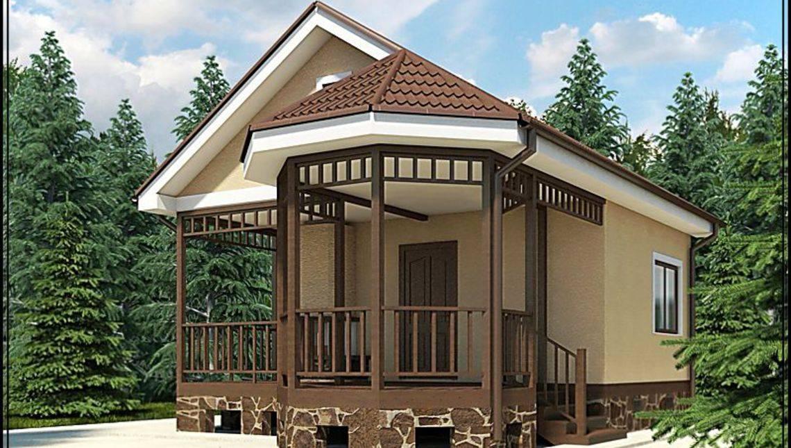 Проект для строительства комфортной бани с крытым крыльцом