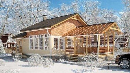 Проект для строительства комфортной бани с крытой террасой