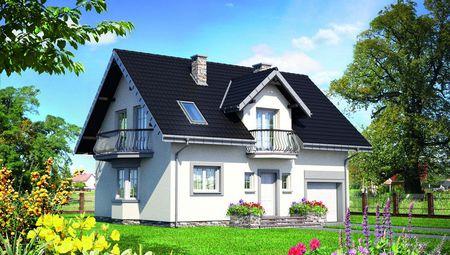 Загородная усадьба с мансардой площадью до 150 m²