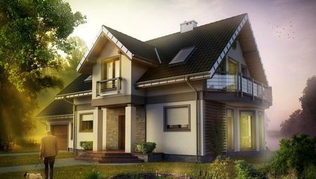 Проект симпатичного загородного дома с красивым дизайном