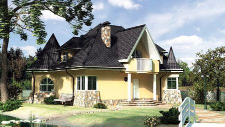 Стильный загородный коттедж с шестью комнатами и нотками средневекового стиля