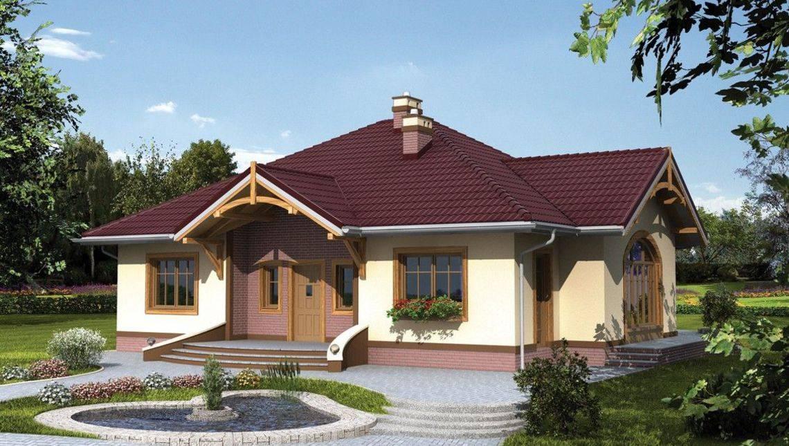 1 этажный дом с оригинальной крышей