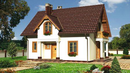 Проект дома с красивым балкончиком 8 на 10