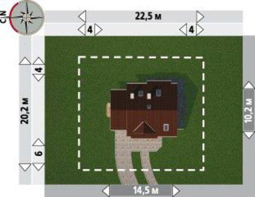Проект коттеджа площадью более 150 m² с угловым эркером