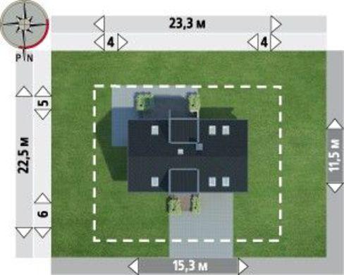 Интересный загородный дом с большими помещениями