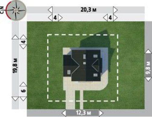 Архитектурный проект просторного коттеджа с удобной планировкой